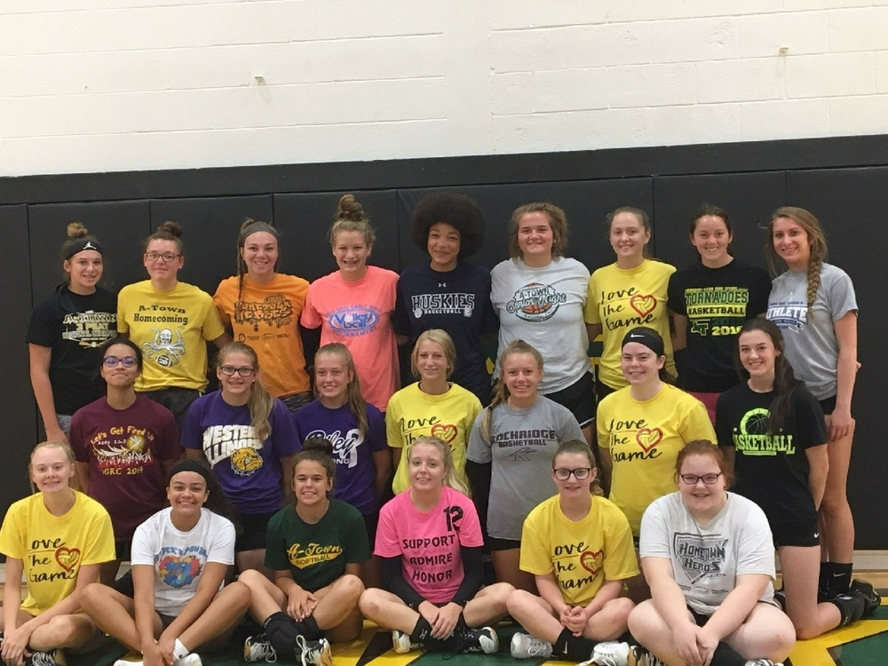 Lady Tornadoes volleyball camp participants