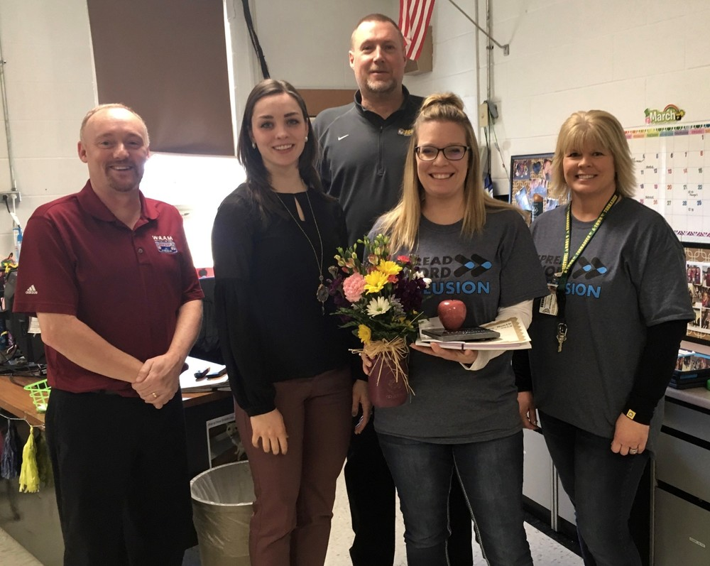 Mrs Horner named Teacher of the Month February 2019