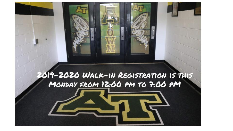 Walk-in Registration - Monday August 5th