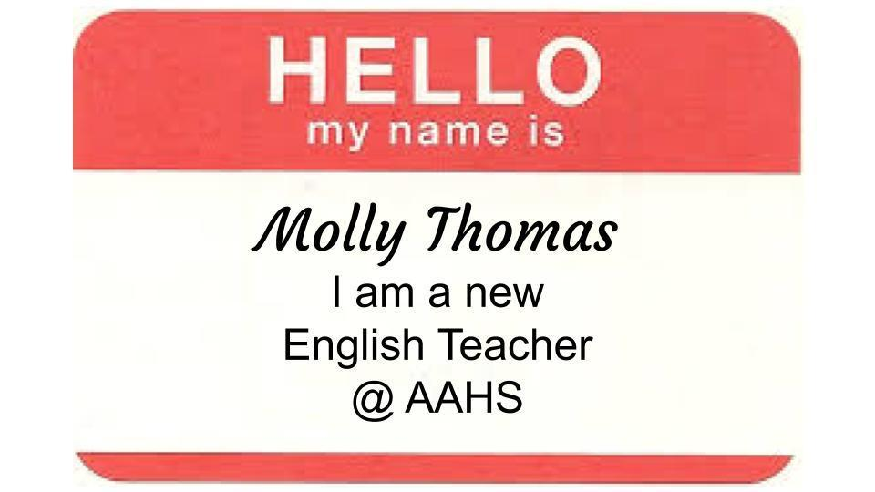 Meet our New English Teacher at AAHS