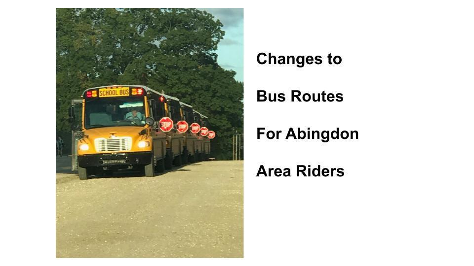 New Abingdon Bus Routes