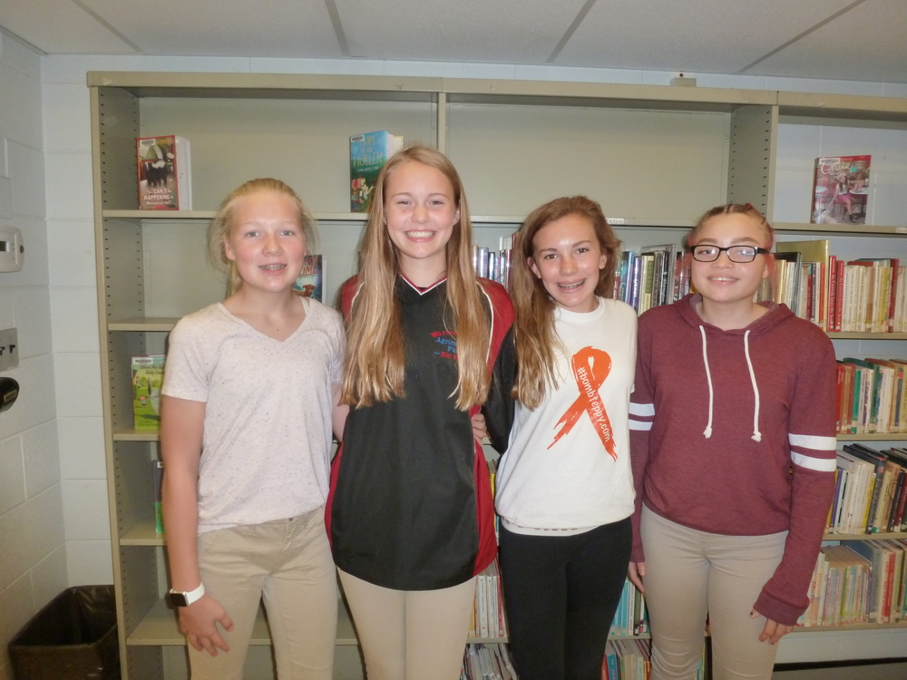 8th Grade Interact Officers elected