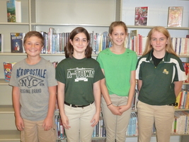 7th Grade Interact Officers Elected