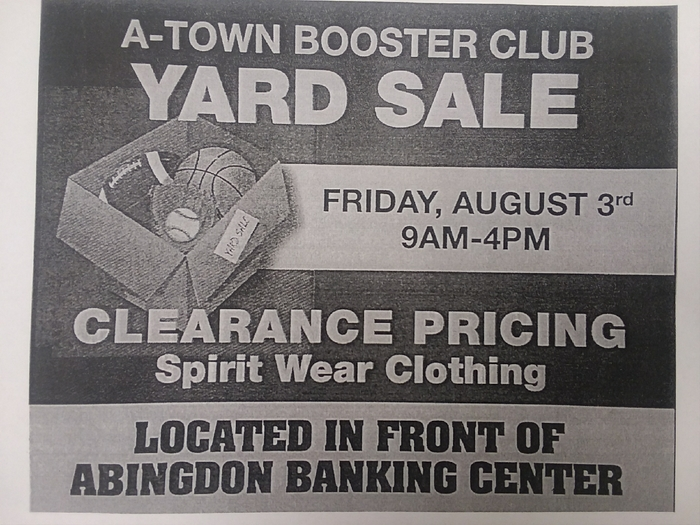Booster Club Yard Sale
