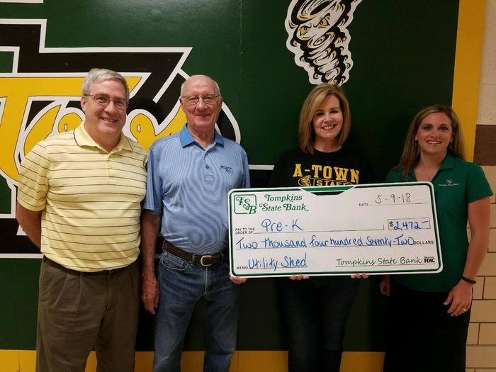 Foundation Grant for New Pre-K shed