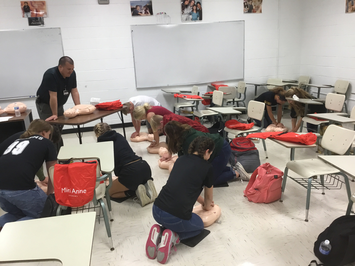 CPR Certification in Mr. Kelso's Health class.