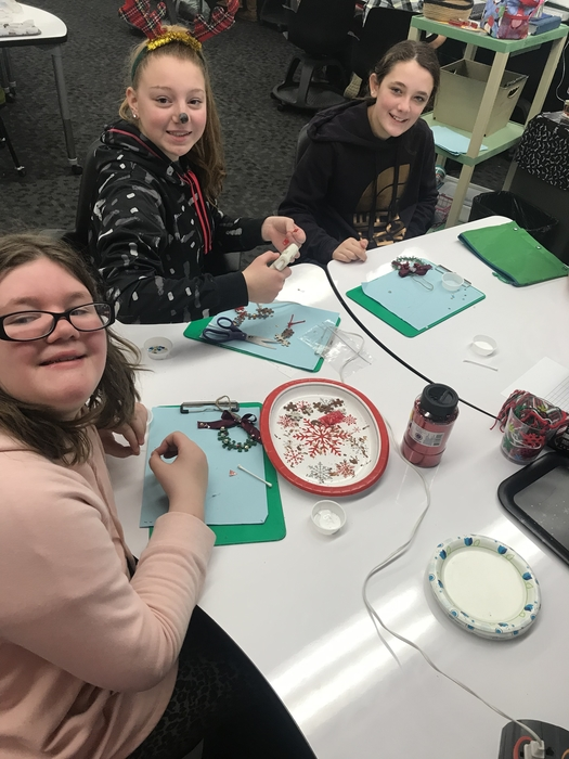 "Mrs. Hayden's 6th gr SS class took a break from ""Egypt"" to make puzzle piece ornaments this week!"