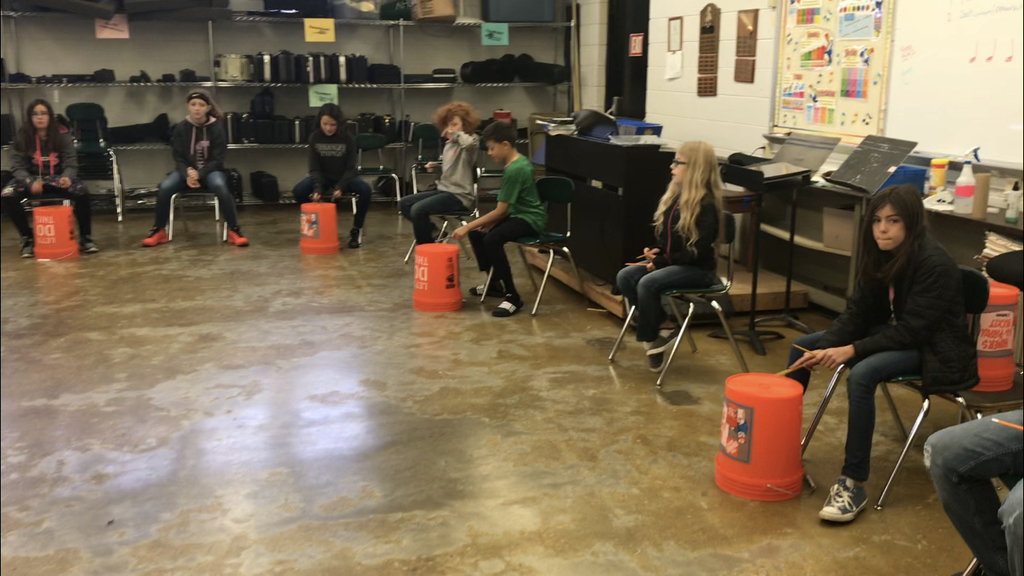 Bucket Drumming!