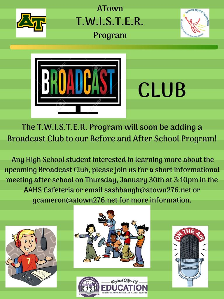 Broadcast Club meeting flyer