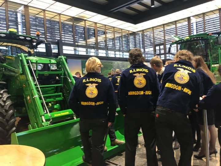 FFA members getting to know other members from across the state of Illinois.