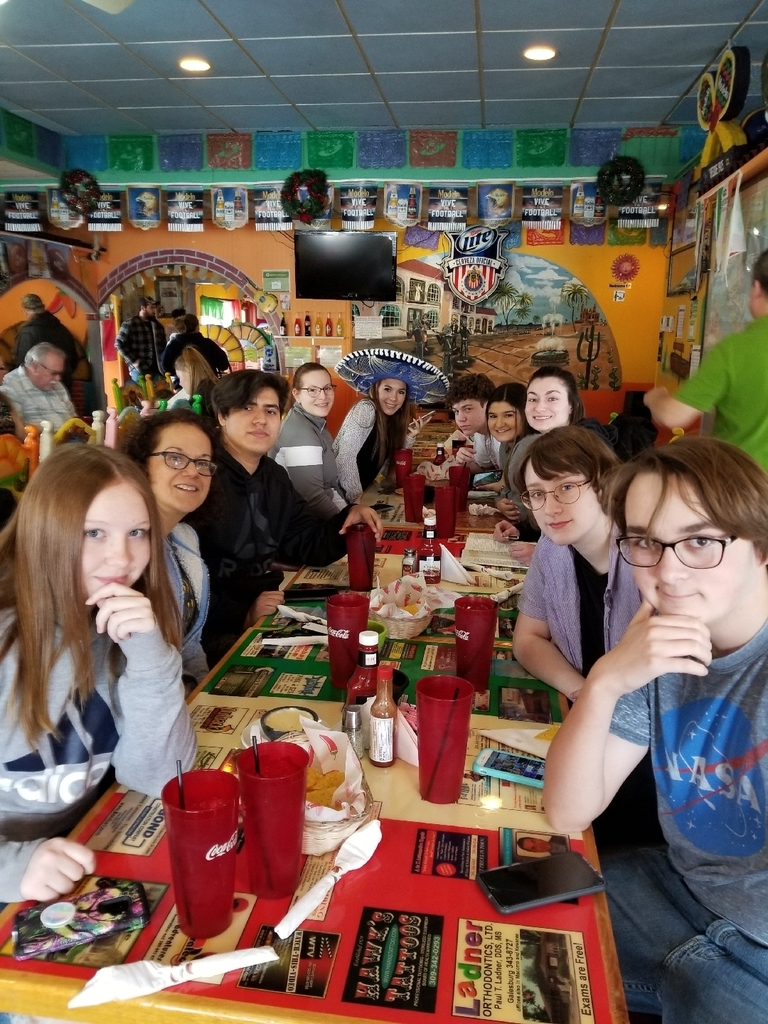 Spanish 1 out for lunch