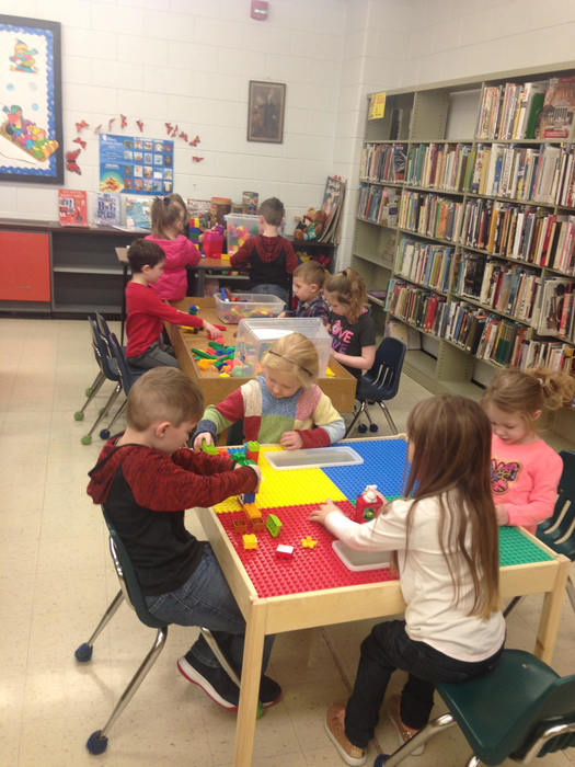 Pre-K introduced to the Library Makerspace