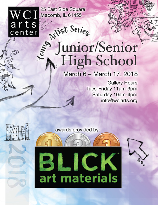 Junior/Senior High School Art Show at WCI Art Center in Macomb Illinois. March 6th-17th.