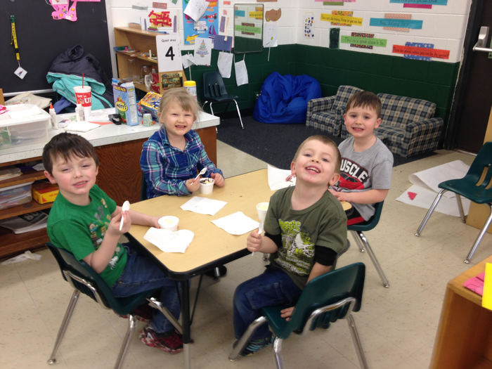 Pennies for Patients ice cream party in Pre-K